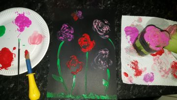 Mothers Day Craft Celery Roses