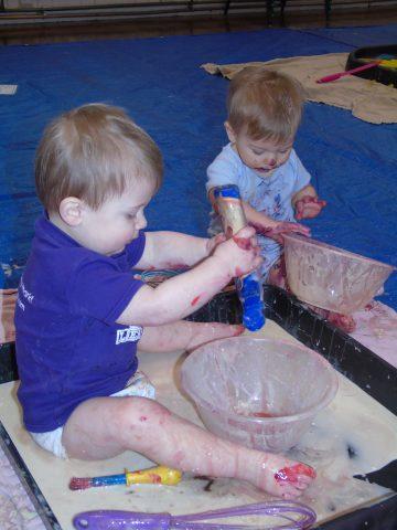 Messy Play on Pancake Day